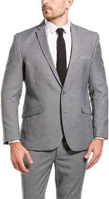 Kenneth Cole Reaction 2Pc Techni-Cole Suit With Flat Pant