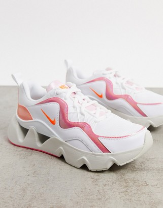 Nike Ryz 365 sneakers in off-white and iridescent pink