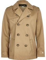 River Island Boys stone traditional mac coat