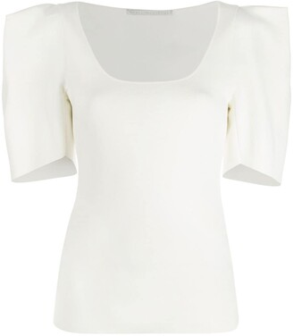 Stella McCartney structured shoulders blouse