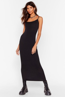 Nasty Gal Womens Fit's Time for a Change Midi Dress - Black