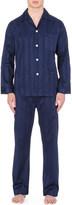 Derek Rose Tonal striped pyjama set