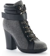 Juicy Couture Women's Lace-up High Heel Ankle Boots