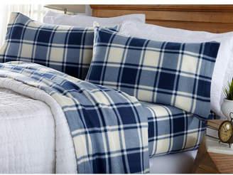 Great Bay Home Fleece Plaid Printed Queen Sheet Set Bedding