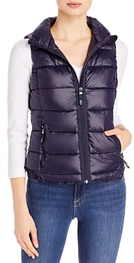 Andrew Marc Packable Hooded Puffer Vest