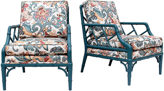 One Kings Lane Vintage Faux Bamboo Chinese Chippendale Chairs - Cannery Row Home
