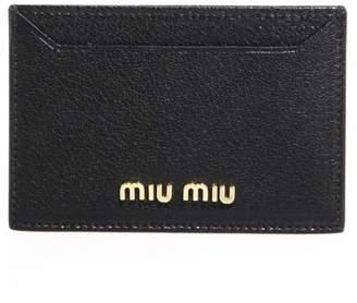 Miu Miu Madras Metallic Leather Card Case