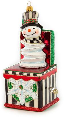 Mackenzie Childs Glass Ornament Jack In The Box