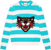 Gucci Angry Cat striped jumper
