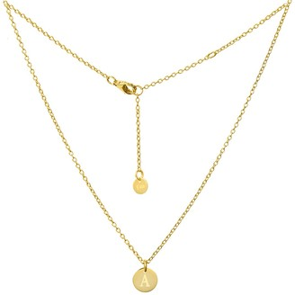 Savvy Cie 18K Yellow Gold Vermeil Classic Initial Choker Necklace