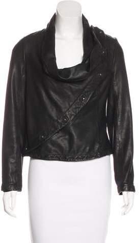 AllSaints Leather Asymmetrical Jacket