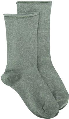 Brunello Cucinelli Metallic-Effect Socks