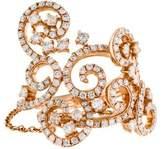 Ring 14K Diamond Double Swirl Chain