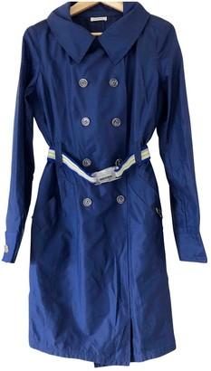 Pinko Blue Silk Trench Coat for Women