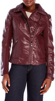 Steve Madden Asymmetric Faux Leather Moto Jacket