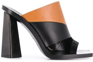 Givenchy Two-Tone Block Heel Sandals