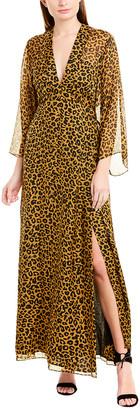 Mason by Michelle Mason Plunge Silk Gown