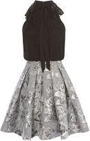 Karen Millen A-line Jacquard Dress - Silver