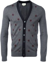 Gucci bee and star embroidered cardigan