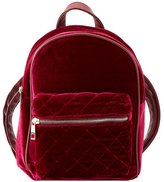 Charlotte Russe Quilted Velvet Backpack