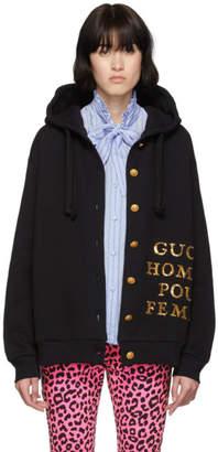 Gucci Black Homme Pour Femme Hoodie