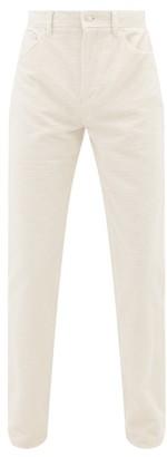 Séfr Sin Cotton-corduroy Jeans - Mens - White