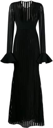 David Koma striped longsleeved dress
