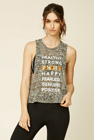 Forever 21 Active Healthy Graphic Tank