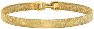 Italian Silver 14K Gold-Plated Wire Wrapped Bracelet, 8.6g