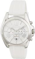MICHAEL Michael Kors 43mm Bradshaw Chronograph Watch w/ Silicone Strap