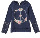 Jessica Simpson Big Girls 7-16 Rily Crocheted-Detailed-Sleeve Tee