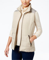 Style&Co. Style & Co. Mixed-Media Puffer Vest, Only at Macy's