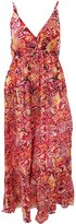 Universal Textiles Womens/Ladies Spotty Pattern Print Strappy Crossover Maxi Summer Dress