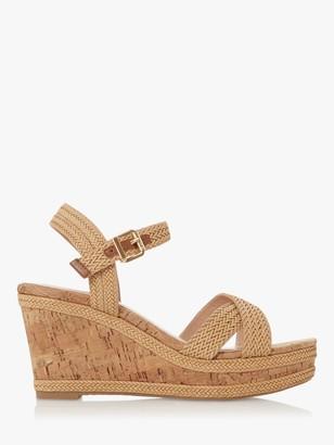 Dune Kelisa Braided Wedge Heel Sandals, Natural