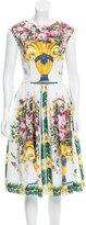 Dolce & Gabbana 2017 Floral Caltagirone Print Dress