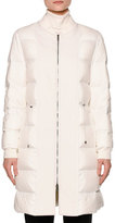 Callens Zip-Front Puffy Bomber Coat, Warm White
