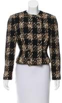 Valentino Double-Breasted Tweed Blazer