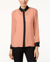 CeCe Colorblocked Blouse, Only at Macy's
