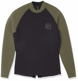 RVCA Men's Long Sleeve Back Zip Wetsuit Jacket Rashguard