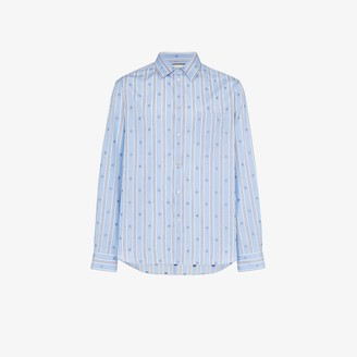 Gucci Bee stripe cotton shirt
