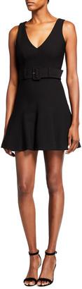 Cinq à Sept Jordan Fit-&-Flare Belted Dress