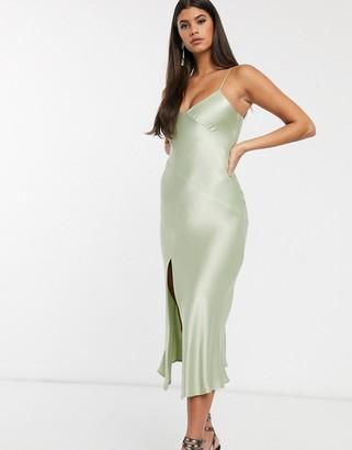 Bec & Bridge crest midi slip dress in peppermint
