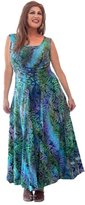 Lotustraders Dress Maxi Batik Boho Art Fashion 5X O355
