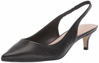 Tahari Womens Freda Black Leather 5 M