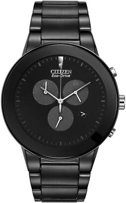 Bulova Men's Axiom Black Stainless Steel Watch, 43mm