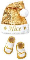 Little Me Newborn/Infant) Hat & Booties Set
