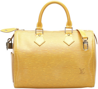 Louis Vuitton Yellow Epi Leather Speedy Bandouliere 25 Bag