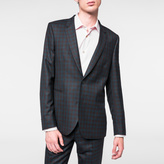 Paul Smith Men's Slim-Fit Brown And Teal Check Wool Blazer