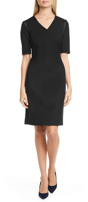 HUGO BOSS Datiso Stretch Wool Sheath Dress