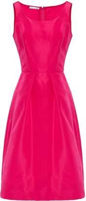 Oscar de la Renta Pleated Silk-faille Dress